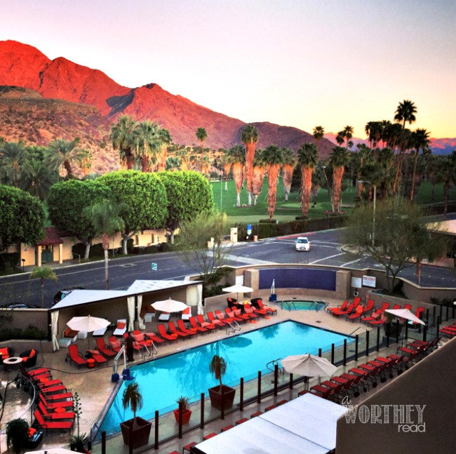 View of the Hyatt Palm Springs California