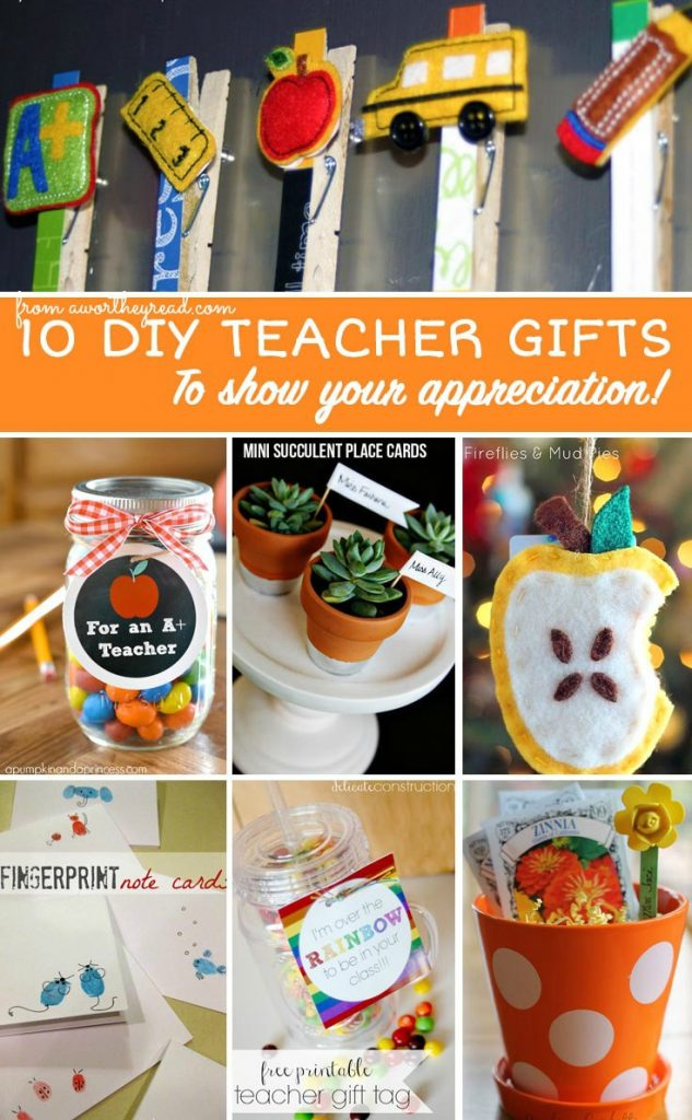 It's always a good time to show your appreciation to your child's Teacher. With Teacher Appreciation Day coming up, here's a few DIY ideas that you can do! I love homemade gifts and feel they have a deeper connection vs. a gift card! 10 DIY Teacher Appreciation Gift Ideas