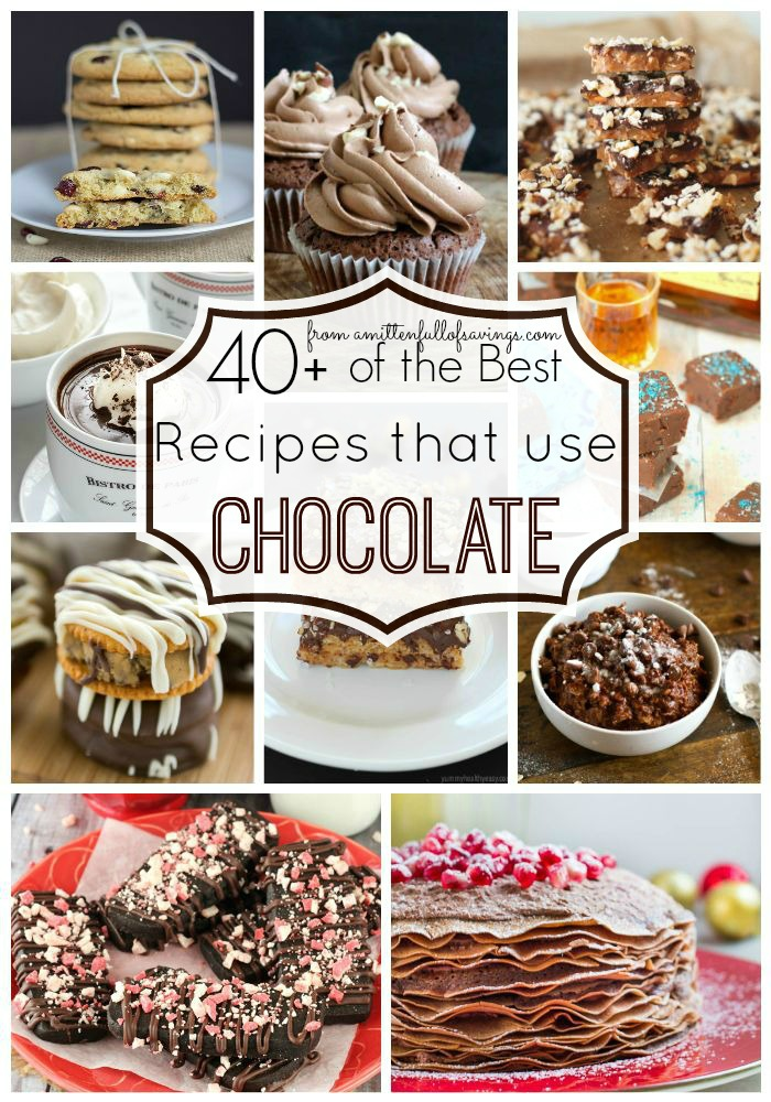 Did someone say chocolate? Yes, chocolate! Pick from a variety of the BEST recipes using chocolate! Pin it to your board and check out the chocolaty goodness here!
