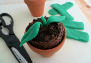 Earth Day Sprout Cupcakes