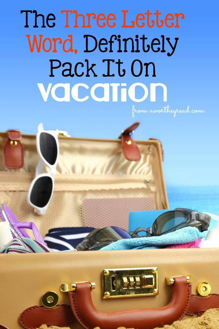 When you're on vacation, it's important to still stay connected to your Significant Other. But how to do that with kids or other people? Here's a few ways to get creative and keep up your romance on vacation! Read The Three Letter Word, Definitely Pack It On Vacation for some great tips!