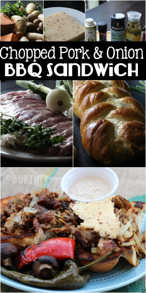 Fire up the grill and add this sandwich to the menu! Chopped Pork & Onion Sandwich