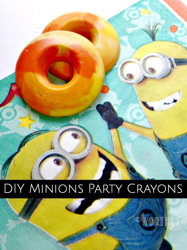 DIY Idea Minions Party Crayons