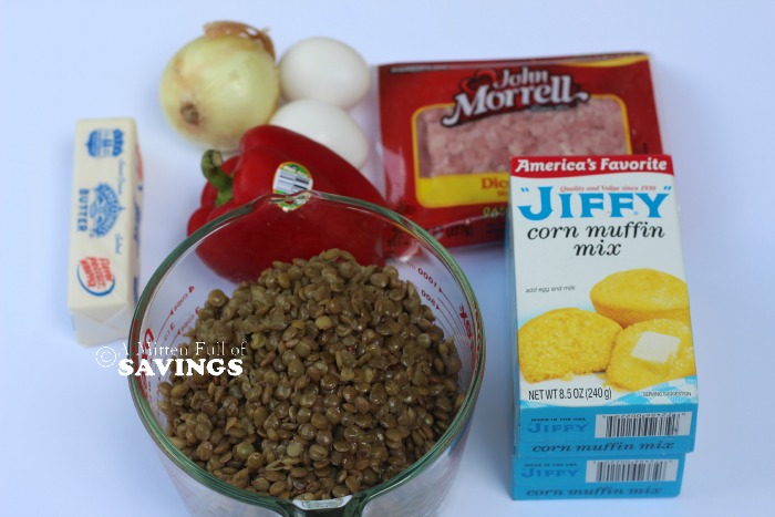 Ham & Cheese Muffins Ingredients