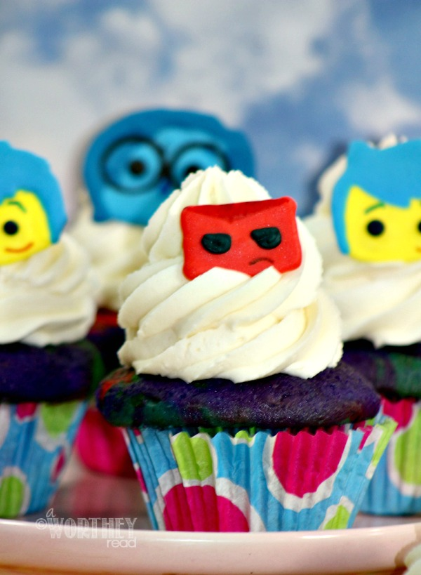 Make your own Inside Out Characters With Inside Out Cupcakes