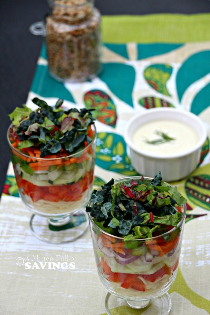 Mini 7 Layer Pasta Salad Easy Recipe