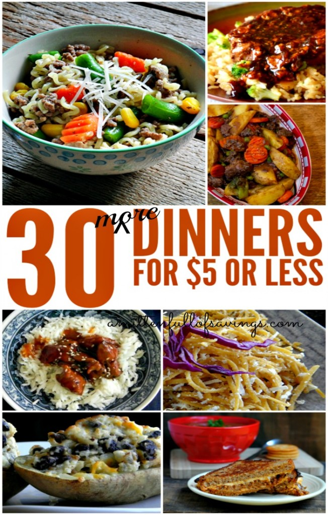 More Dinners For $5 or Less