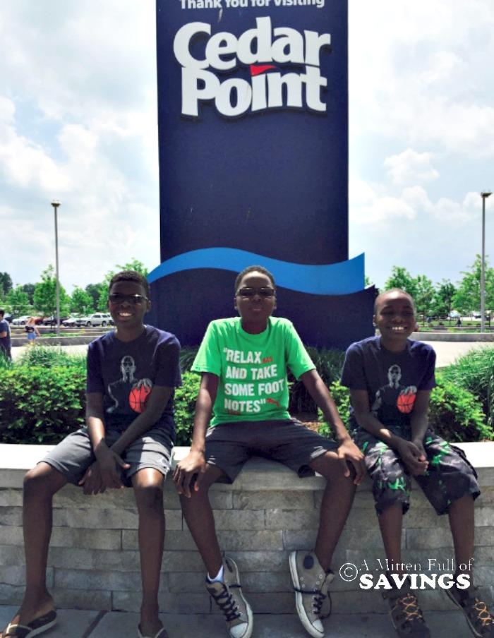 Boys at Cedar Point Amusement Park