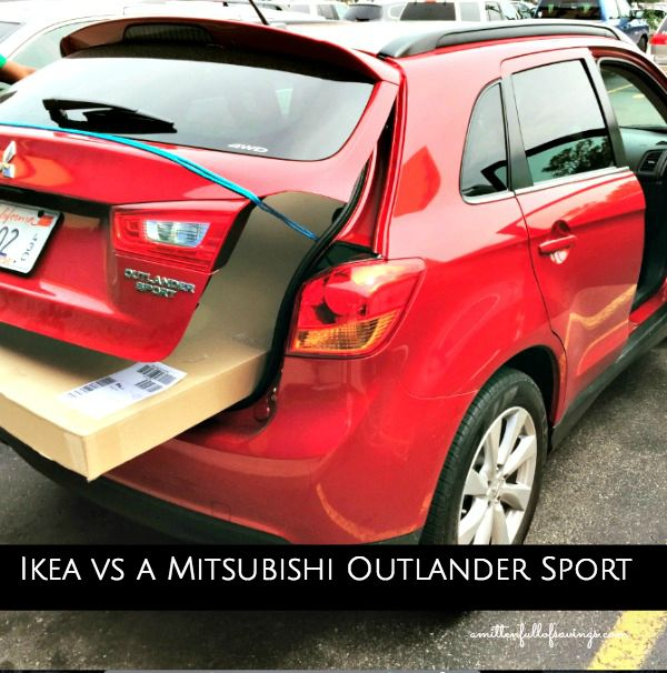 How to fit big items into A Mitsubishi Outlander Sport