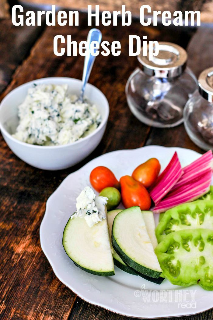 Garden Herb Cream Cheese Dip