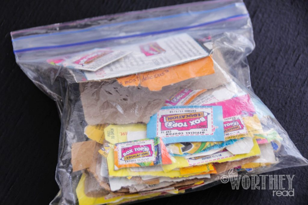 How to make a Box Tops Holder