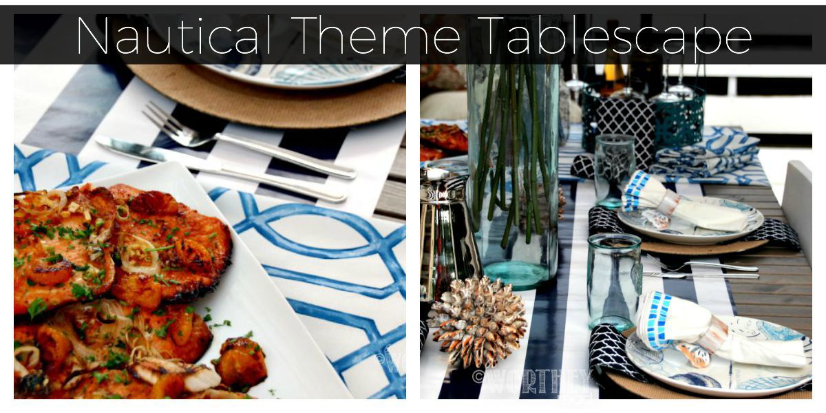 Nautical Theme Tablescape