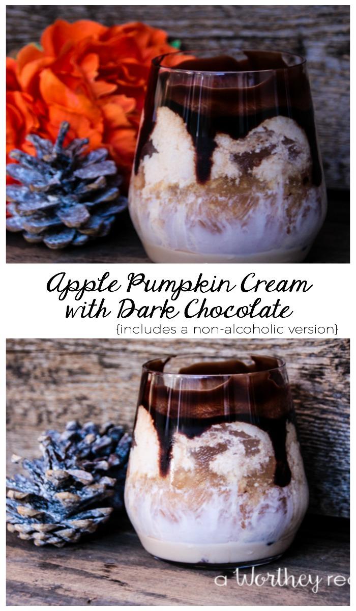 Apple Pumpkin Cream with Dark Chocolate Drink
