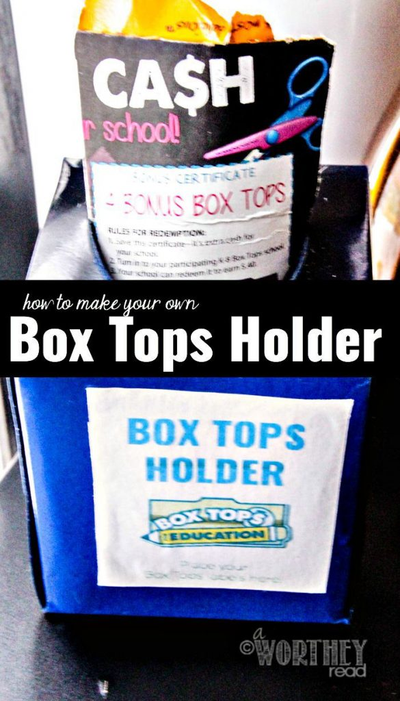 How To Make Box Tops Holder and Printable