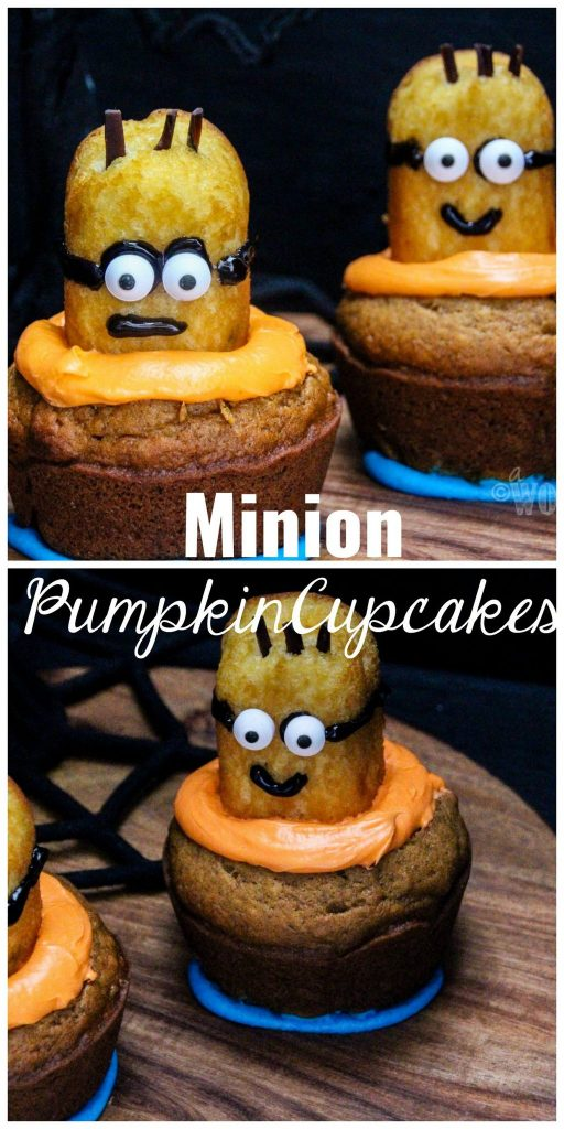 Minion Homemade Pumpkin Cupcakes