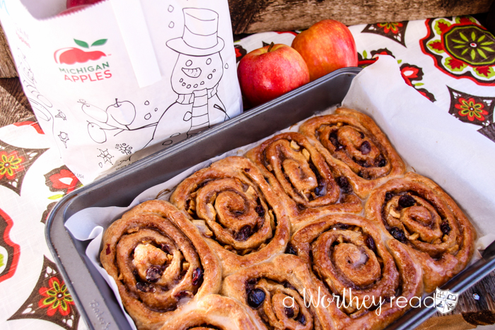 Apple & Cranberry Cinnamon Rolls