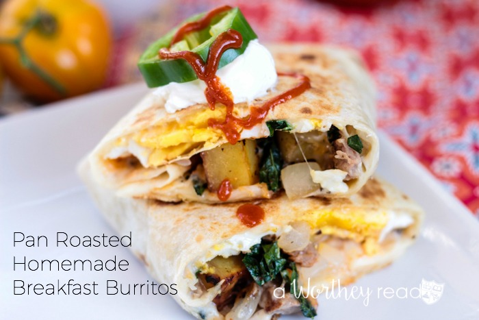Pan Roasted Homemade Breakfast Burritos