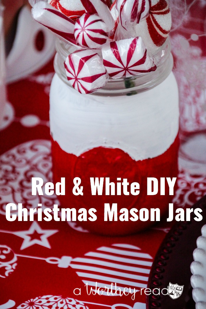 Red White Diy Christmas Mason Jars