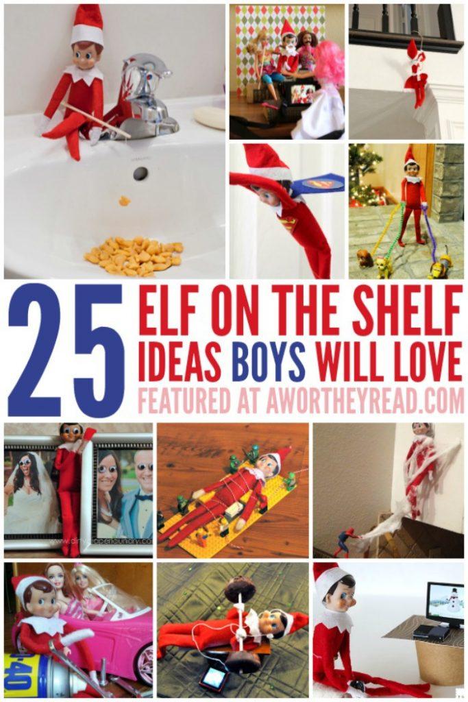 Easy Elf on the Shelf Ideas for Boys: Easy Elf on the Shelf Ideas for Boys: