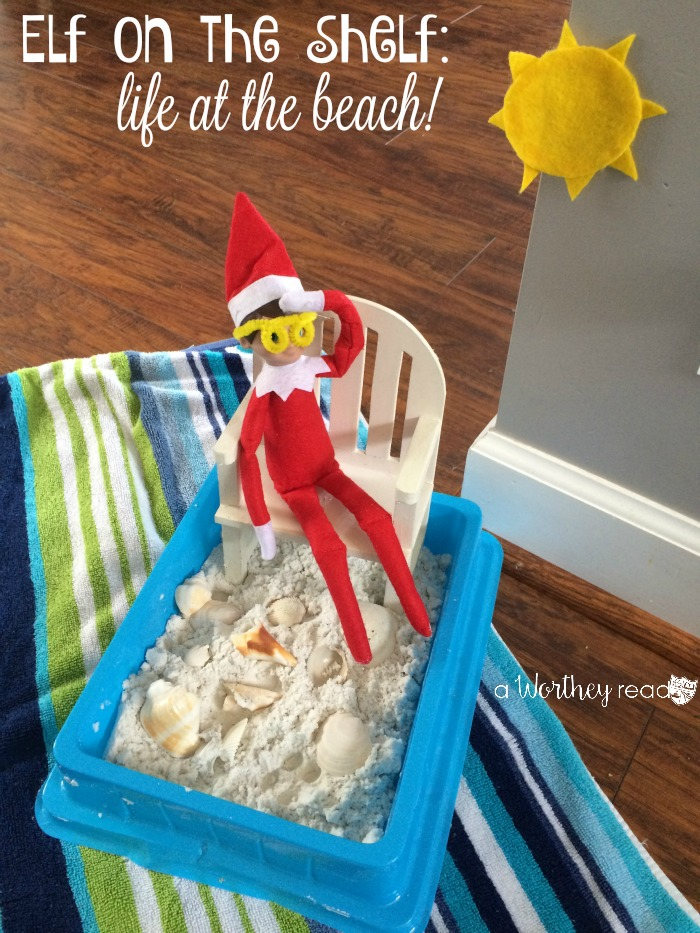 Elf on the Shelf At The Beach