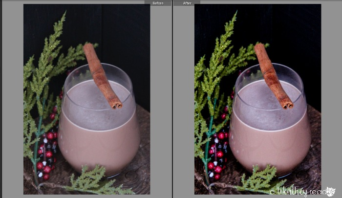 Lightroom Before and After Photo