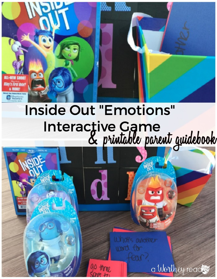 Great way to get kids talking about their emotions. Using Disney's Inside Out Movie To Talk About Emotions {printable}