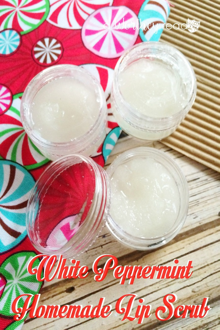 Homemade Christmas Gift Idea - White Peppermint Homemade Lip Scrub