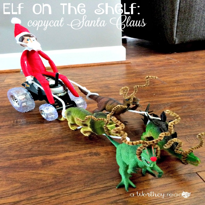 Elf on the Shelf Idea Copycat Santa Claus