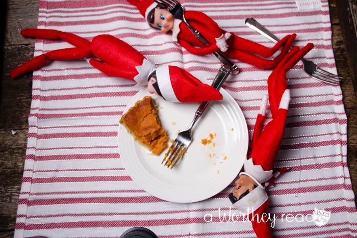Elf on the Shelf Idea: The Last Piece of Sweet Potato Pie