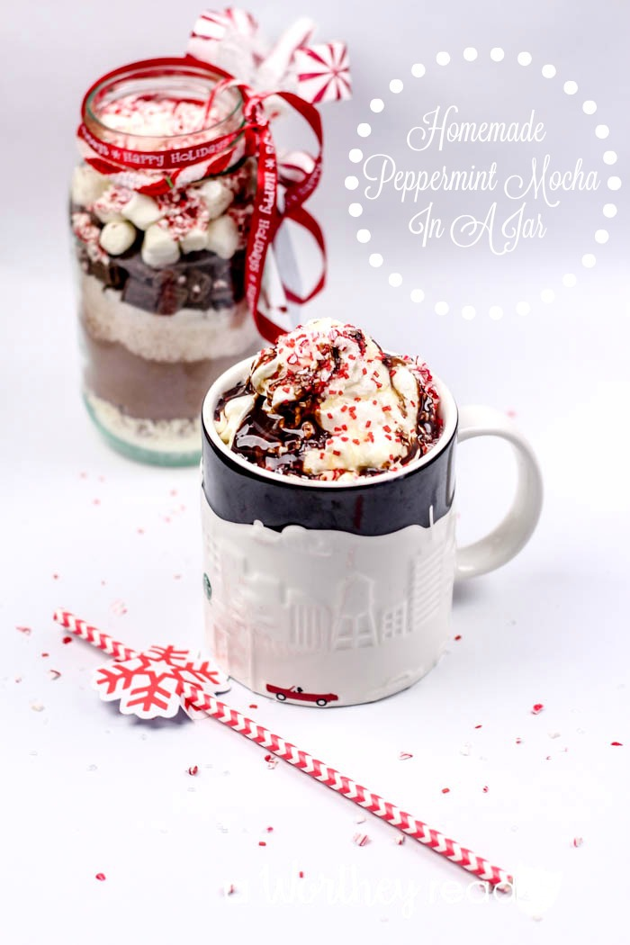 Peppermint Mocha Hot Chocolate In A Jar