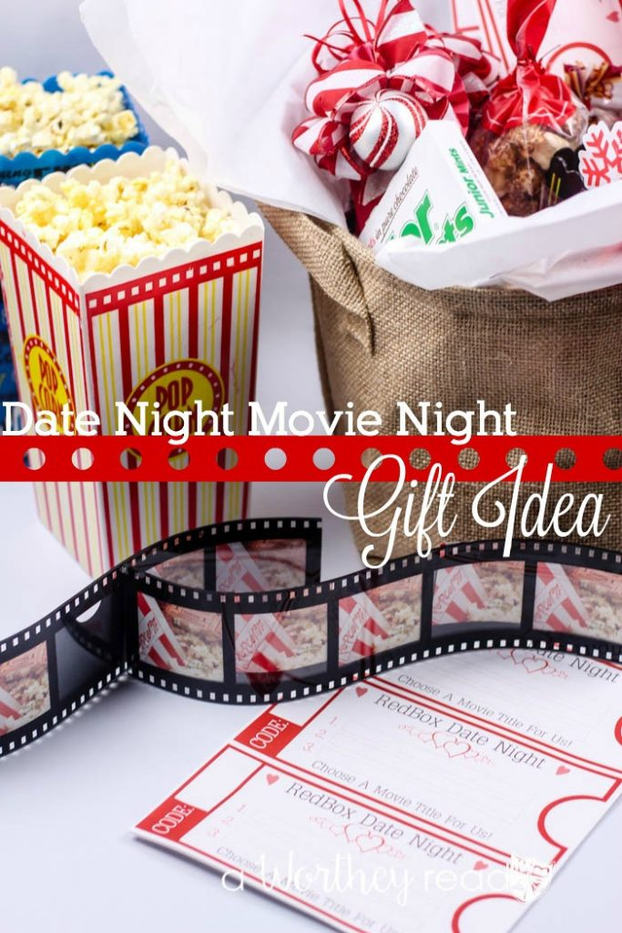 Have a Date Night At Home with this idea: Movie Date Night Gift Idea