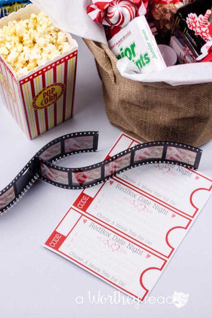 Date Night Movie Gift Basket Idea
