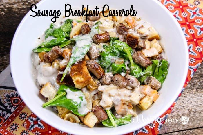 Easy Holiday Breakfast Casserole: Sausage Breakfast Casserole {& Le Creuset Giveaway}