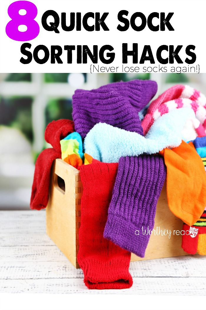 Here's quick and easy creative solutions to keep track of your socks! 8 Quick Sock Sorting Hacks