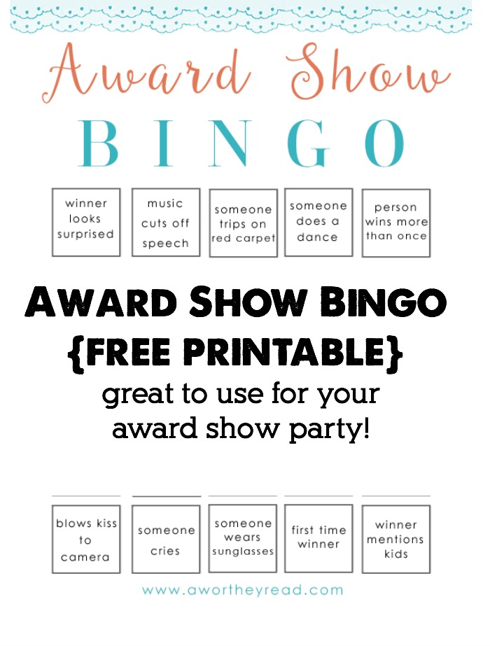 Hosting an award show party? Be sure you have this free printable- Award Show Bingo Printable