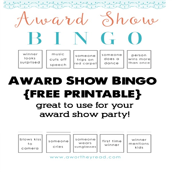 Award Show Bingo Printable1