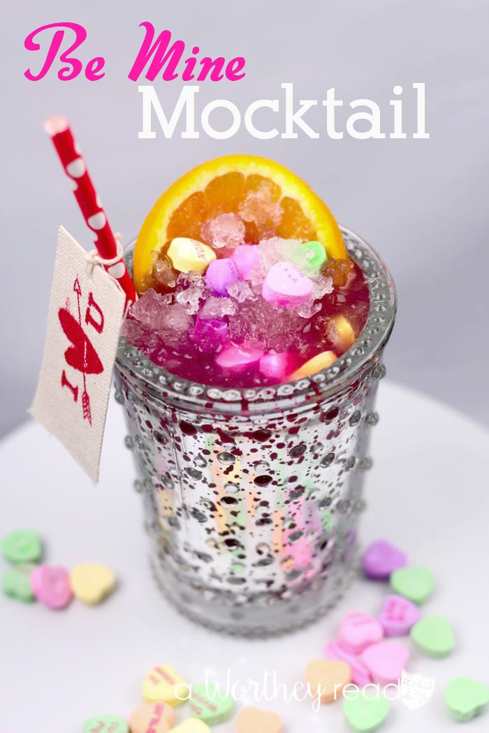 Using Sparkling Grape Juice, orange juice, cherry limeade, and candy hearts, this Valentine's Drink works for kids and adults!
