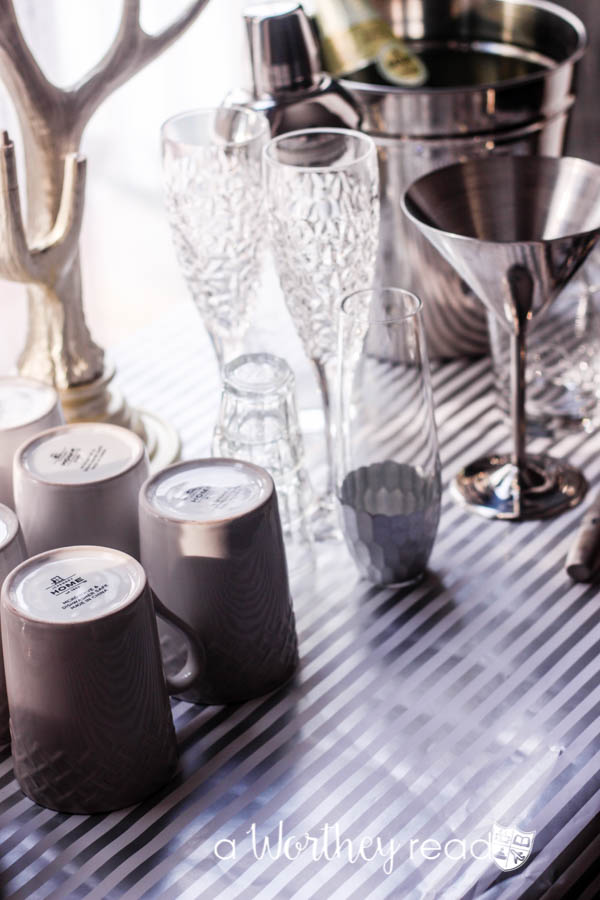 Here's an easy way to create a coffee and drink bar area for your party!