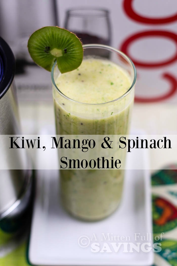 Easy Smoothie Recipe- Kiwi, Mango & Spinach Smoothie
