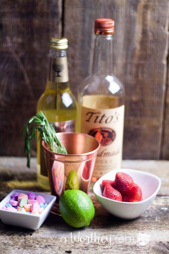 Valentine's Cocktail Recipe- The Be Mine Valentine's Mule