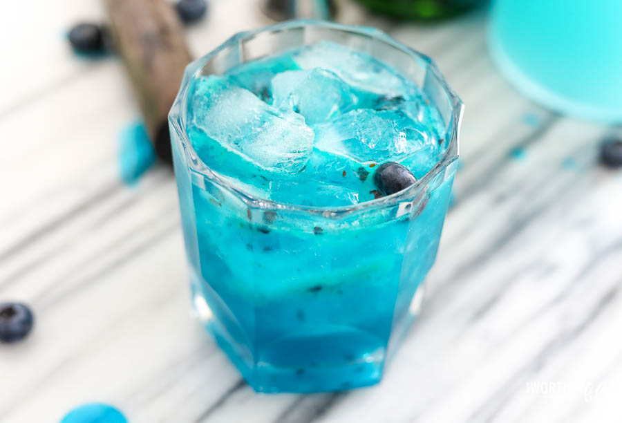 Blue Whiskey Cocktail