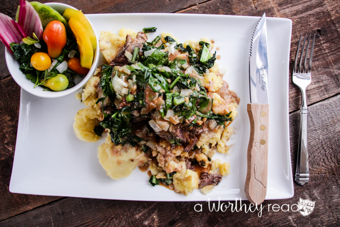 Perfect Easter Dinner: Lamb over Potatoes with Kale