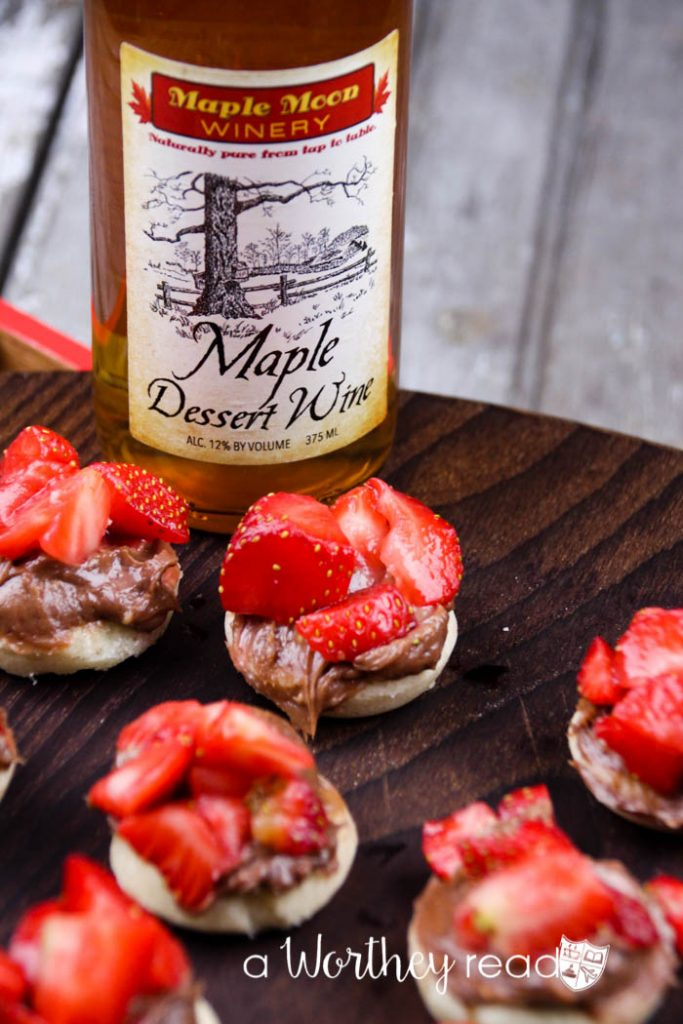 What wines to pair nutella dessert with- Strawberry Nutella Tart Bites