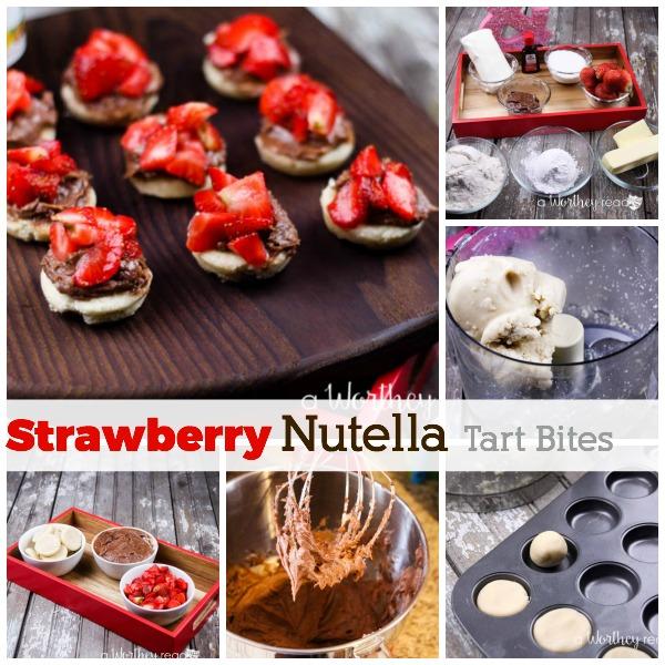 Strawberry Nutella Tart Bites Dessert