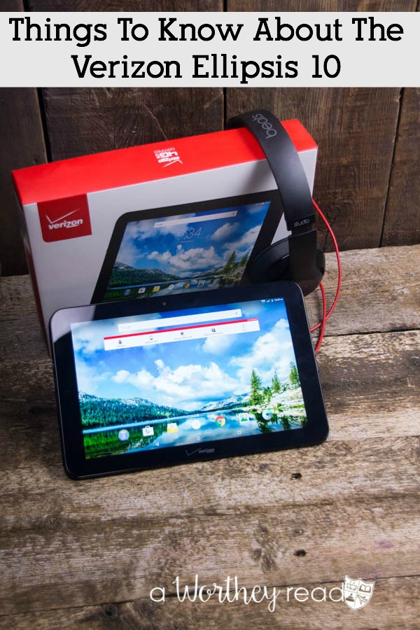 Review on a Tablet- Things To Know About The Verizon Ellipsis 10