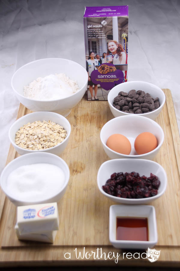 Banana Bread & Samoas Buttercream Ingredients