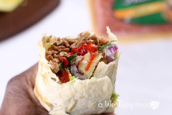 Italian Burrito with Potatoes