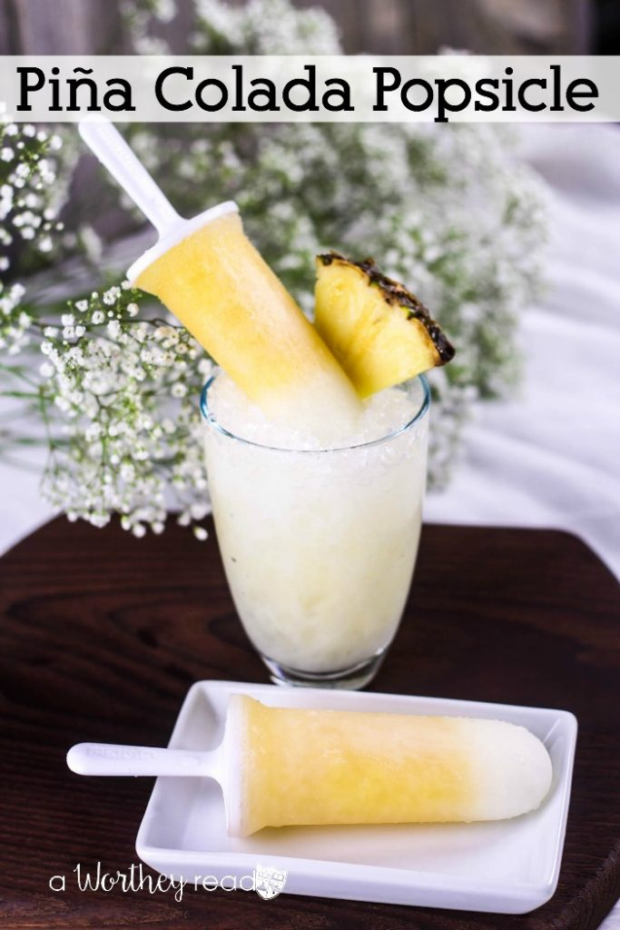 Cool down with this frozen popsicle idea and frozen Pina Colada! A Pina Colada Popsicle