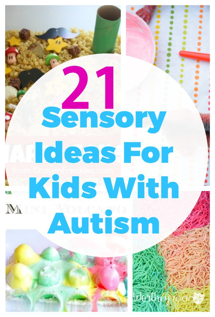 There are several ways to handle anxiety and overstimulation for kids with Autism. Here's 21 Sensory Ideas For Kids With Autism