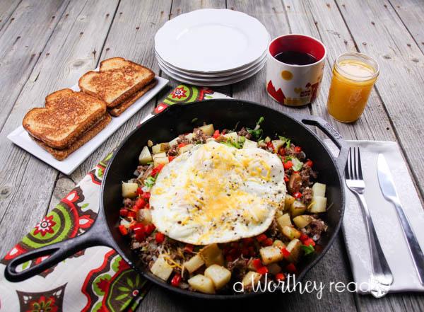 Beef Breakfast Skillet Casserole-2